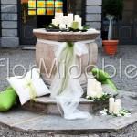composizioni di candele per addobbo di giardini - ricevimenti matrimonio