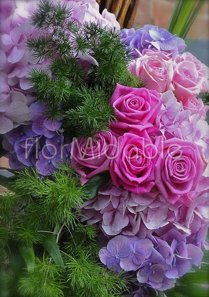 Bouquet Ortensie E Rose : Addobbi per matrimoni e bouquet da sposa con fiori fucsia