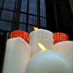 Scenografie di luci e candele per matrimonio religioso