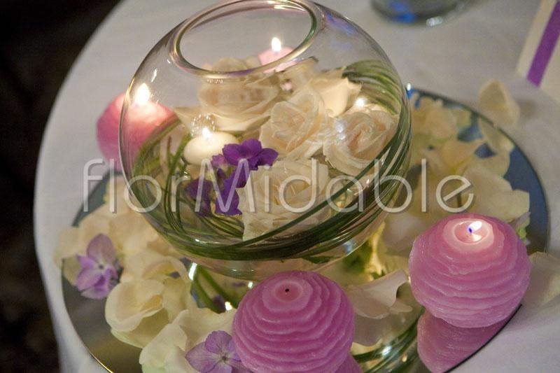 Top Centrotavola candele galleggianti - Organizzazione matrimonio  IM18