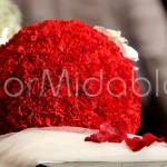 sfere floreali rosse per addobbo chiesa