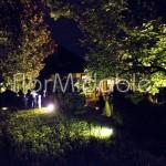 Matrimonio in giardino con ricevimento serale