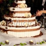 Decorazione floreale torta nuziale matrimonio autunnale