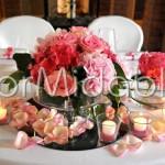 Alzatine romantiche con fioriture nelle sfumature del rosa