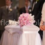 Bouquet delicato di lathyrus rosa