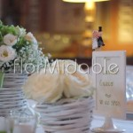 Cestini romantici per addobbi centotavola con rose crema