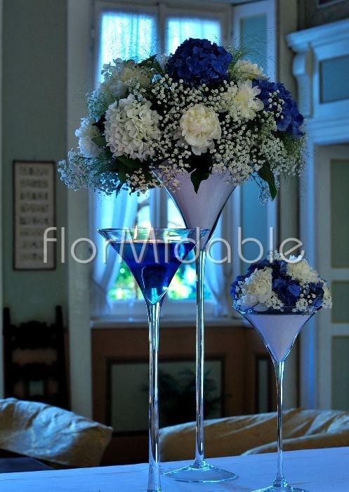 Matrimonio Tema Bianco E Blu : Centrotavola matrimonio eleganti romantici moderni