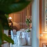 Addobbo ricevimento elegante villa Bossi con candelabri