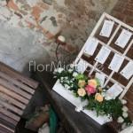 tableau mariage con piante e fiori in stile garden