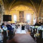 Un addobbo floreale elegante per un matrimonio a Belgirate