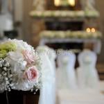 sfere floreali per addobbo panche matrimonio chiesa
