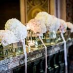 Addobbo elegante con rose cipria Chiesa di Belgirate