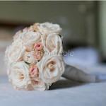 Bouquet romantico rosa cipria