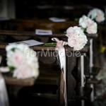 Bouquet rose cipria per addobbo panche