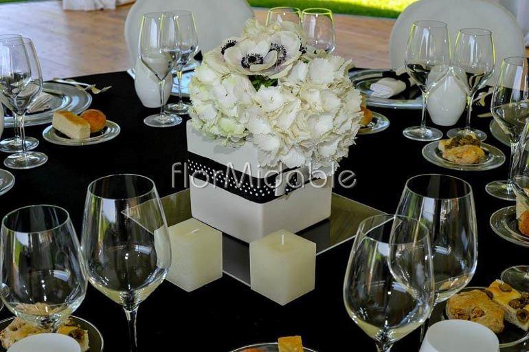 Centrotavola Ortensie Bianche : Matrimoni e bouquet sposa con fiori in bianco avorio
