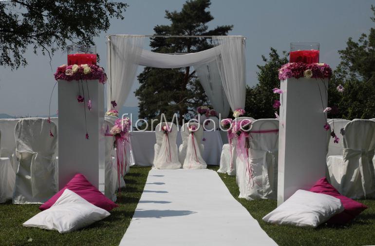 Conosciuto Addobbi per matrimoni e bouquet da sposa con fiori fucsia  PU56