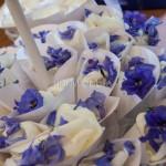 conetti portapetali matrimonio bianco e blu