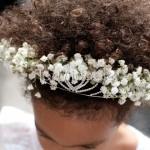 Coroncine di velo da sposa per le piccole damigelle