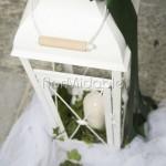 Addobbi esterni con lanterne per matrimoni