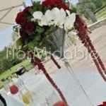 elegante decorazione su calice Martini per tavolo buvette