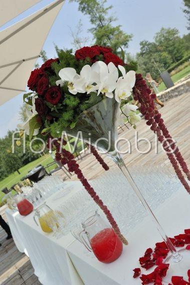 Matrimonio In Bordeaux : Addobbi floreali matrimoni e bouquet sposa con fiori rossi