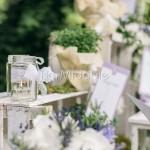 Tableau mariage con peonie, erbe aromatiche e lavanda