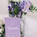 Dettagli floreali ricevimento color lavanda