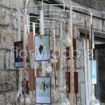 tableau mariage sospeso con sfere trasparenti