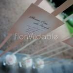 tableau mariage sospeso con bouquet floreali