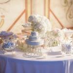 Allestimento romantico tavolo della confettata