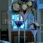 Allestimenti freschi ed eleganti in bianco e blu per il ricevimento in villa
