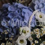 Ortensie, lisianthus e fiori di camomilla
